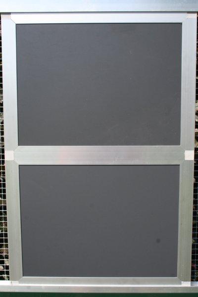 gesloten paneel 102x200cm in brut extra alu en antraciet acp
