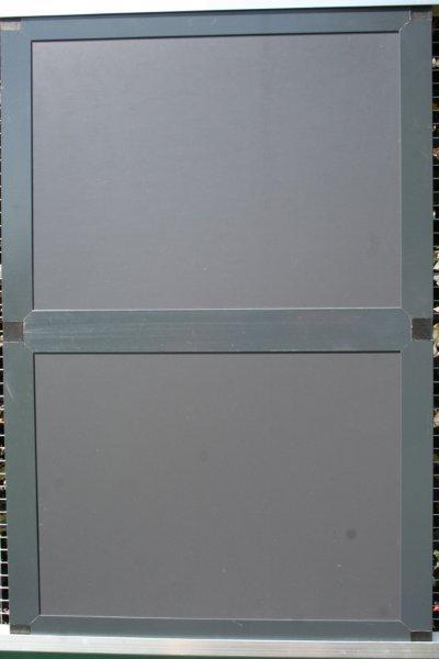 gesloten paneel 102x200cm in antraciet alu en acp
