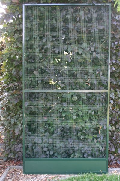 paneel  groen alu  102 x 200 cm met acp morsrand en groene draad 12,7 x 12,7mm