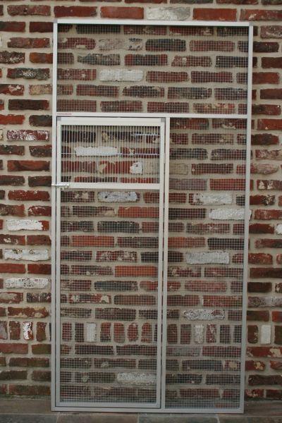 deurpaneel in geanodiseerd alu 102x200cm met draad 12,7x12,7mm