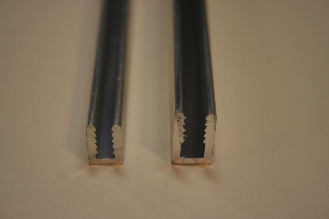 U profiel voor 3 en 4 mm platen