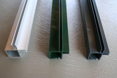 profielen 20 x 20 x 1,5mm met 2 flens hoek 3 of  4mm