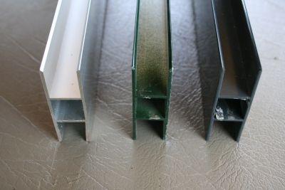 profielen 20 x 20 x 1,5mm met 2 flens 16mm polycarbonaat