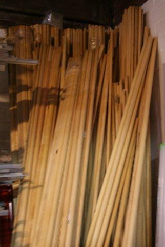 sto(c)kverkoop houten zitstokken
